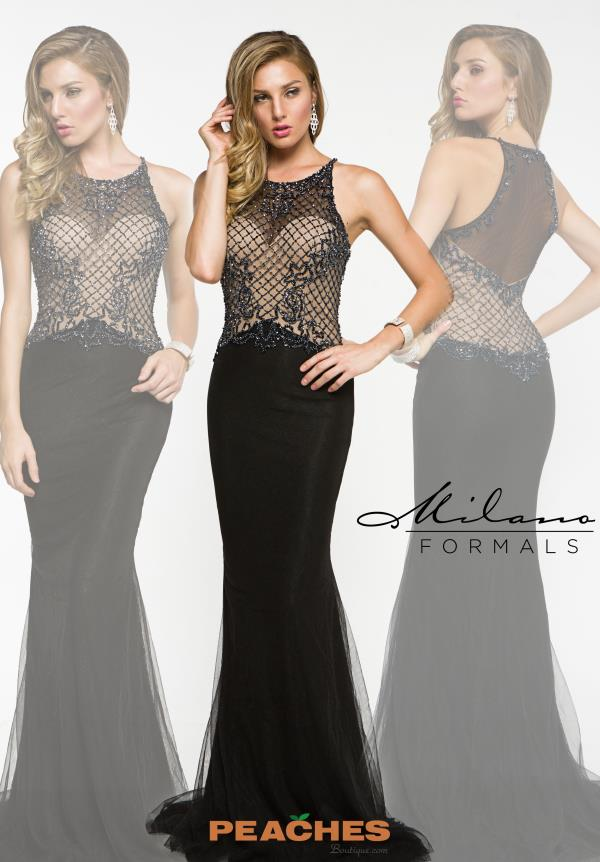 Beaded Black Milano Formals Dress E1920