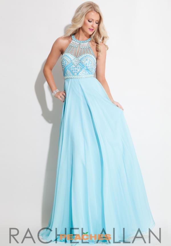 Halter Top Beaded Rachel Allan Dress 7187