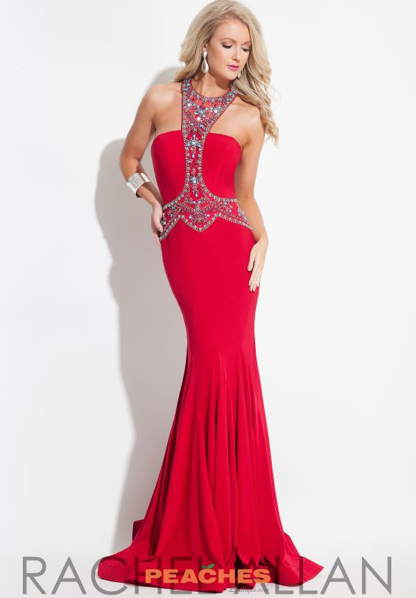 Rachel Allan Long Fitted Dress 7247