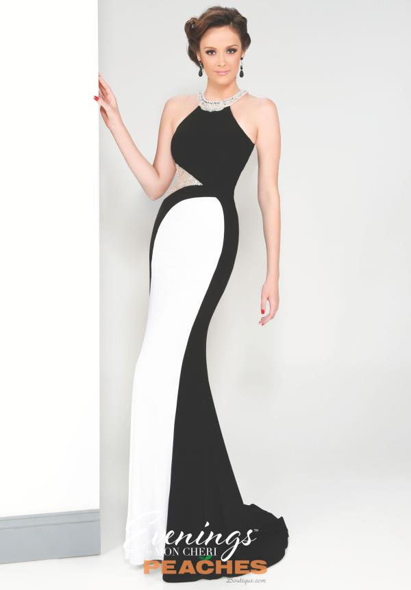 Evenings by Mon Cheri Elegant Open Back Dress MCE11617