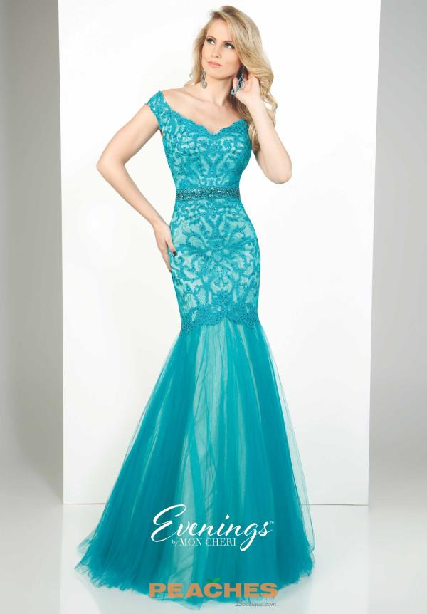 Turquoise Evenings by Mon Cheri Dress MCE11644
