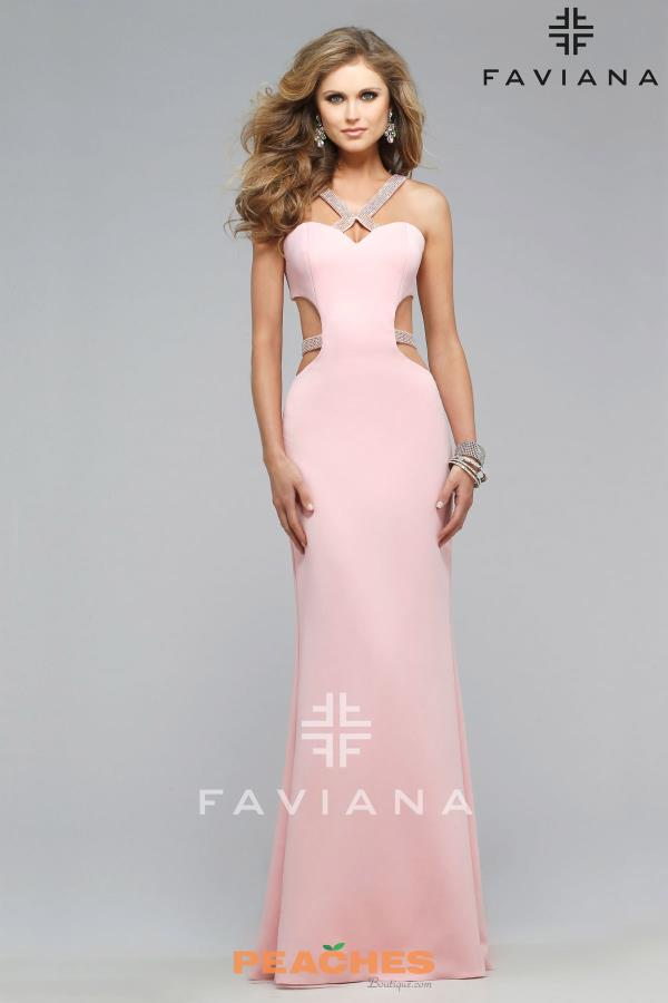 Stunning Cut Out Faviana Dress 7702