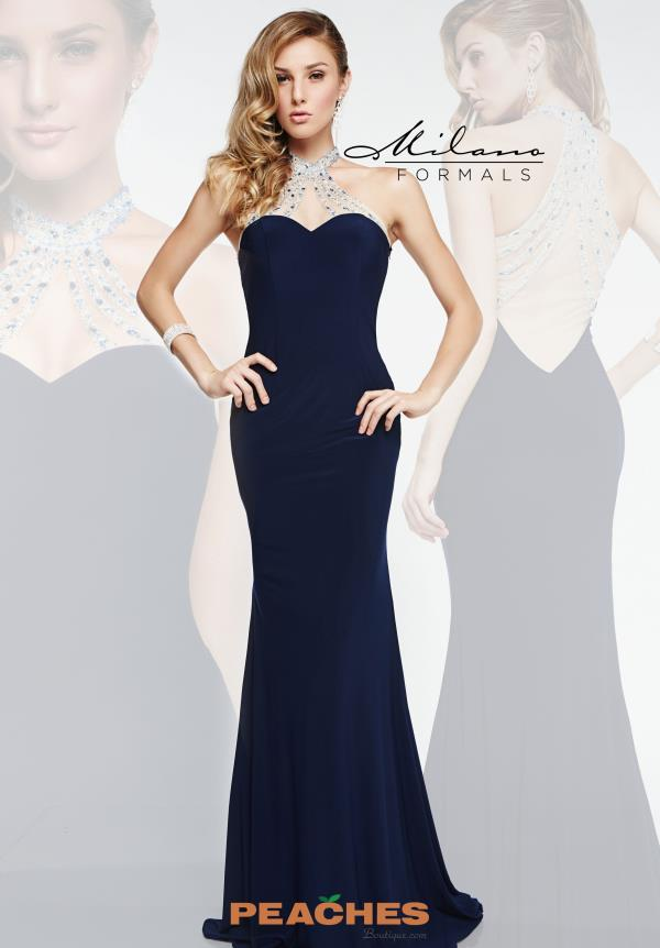 Milano Formals Halter Top Fitted Dress E1857