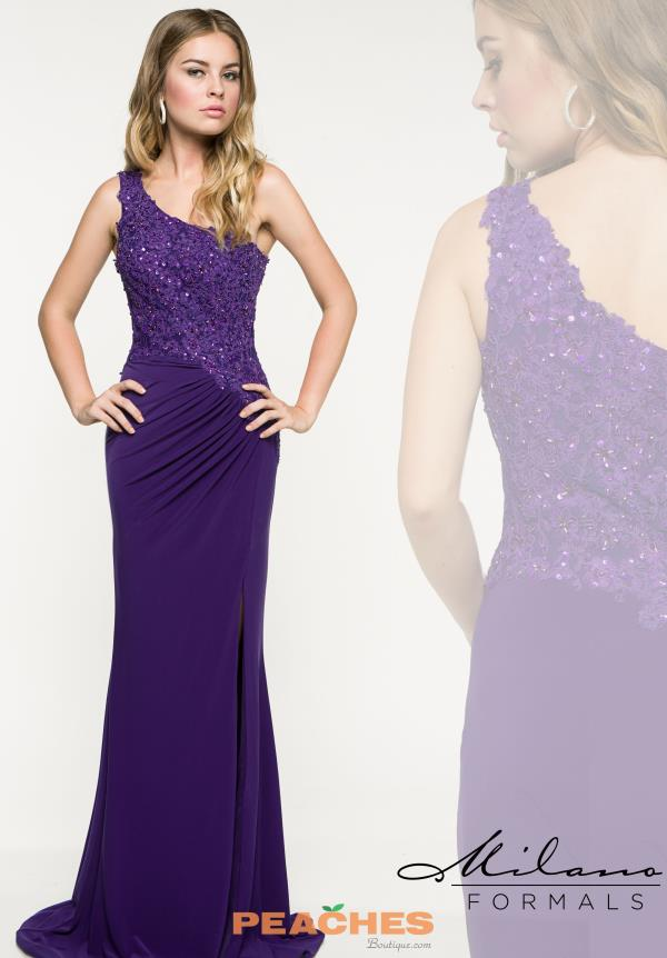 Milano Formals One Shoulder Fitted Dress E1903