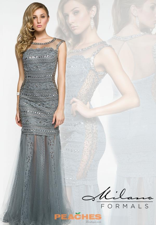 Milano Formals Lace Fitted Prom Dress E1909