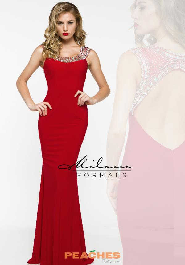 Long Jersey Milano Formals Dress E1847