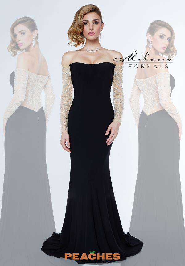 Sexy Black Milano Formals Prom Dress E1849