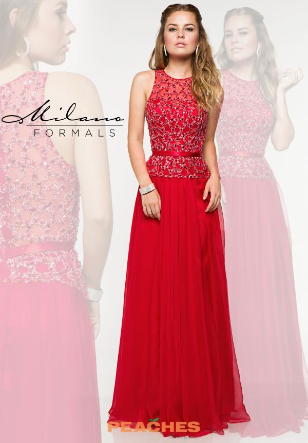 Milano Formals Long Chiffon Dress E1863