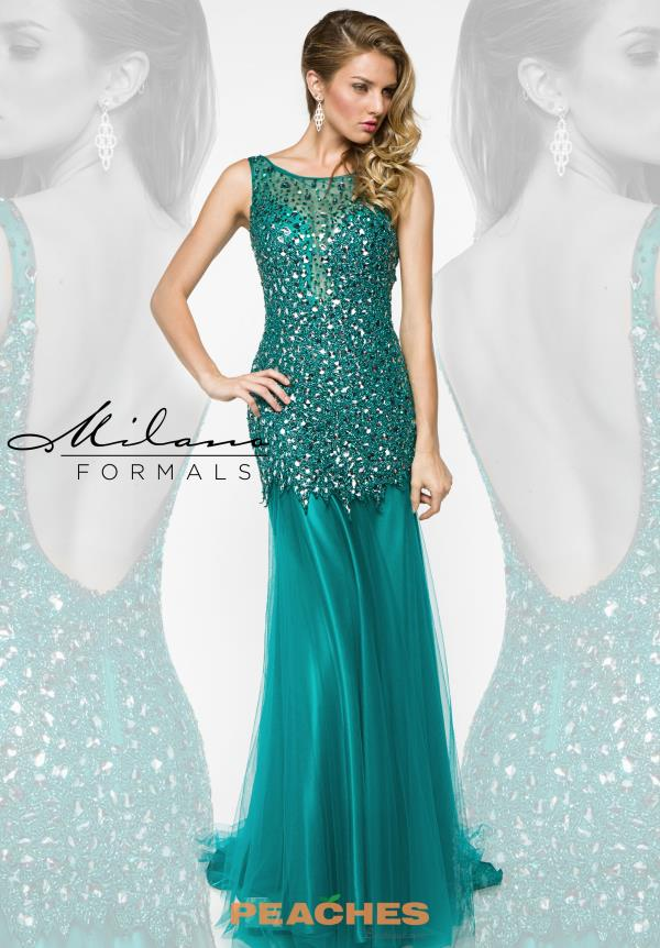 Milano Formals Long Fitted Prom Dress E1878