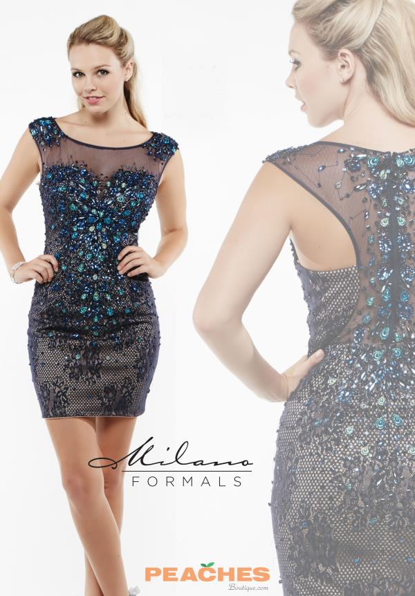 Milano Formals Beaded Short Dress E1946