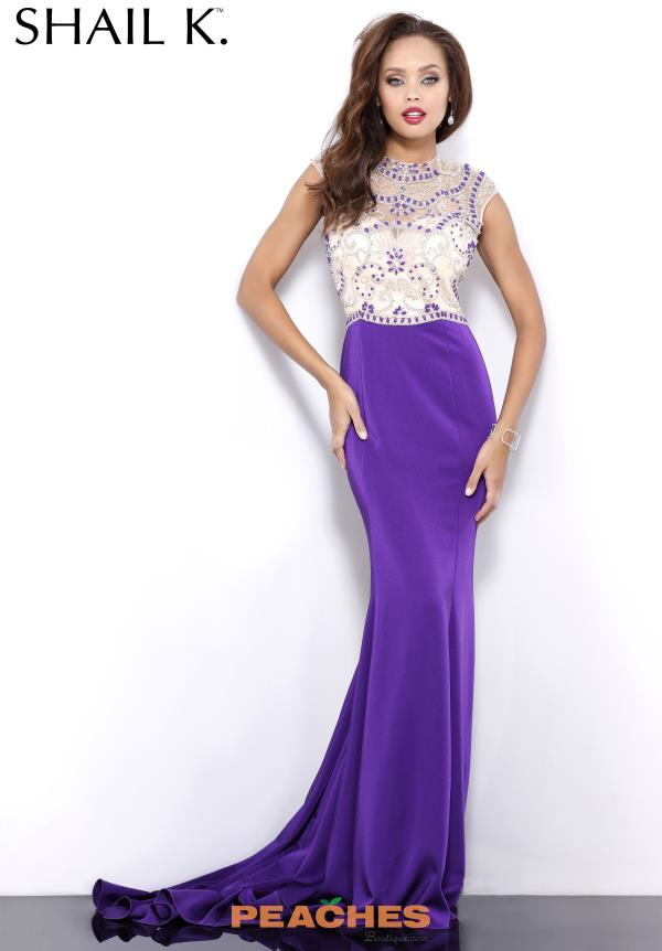 Shail K Purple Beaded Dress 3982