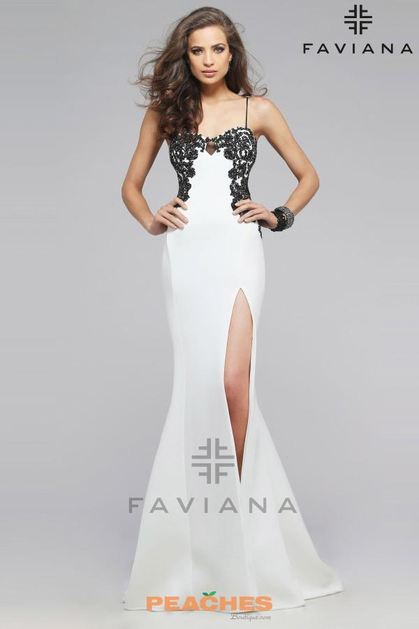 Faviana Applique Fitted Dress 7724