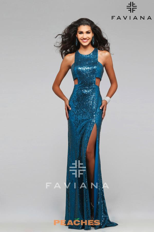 Faviana Sequins Fitted Dress 7740