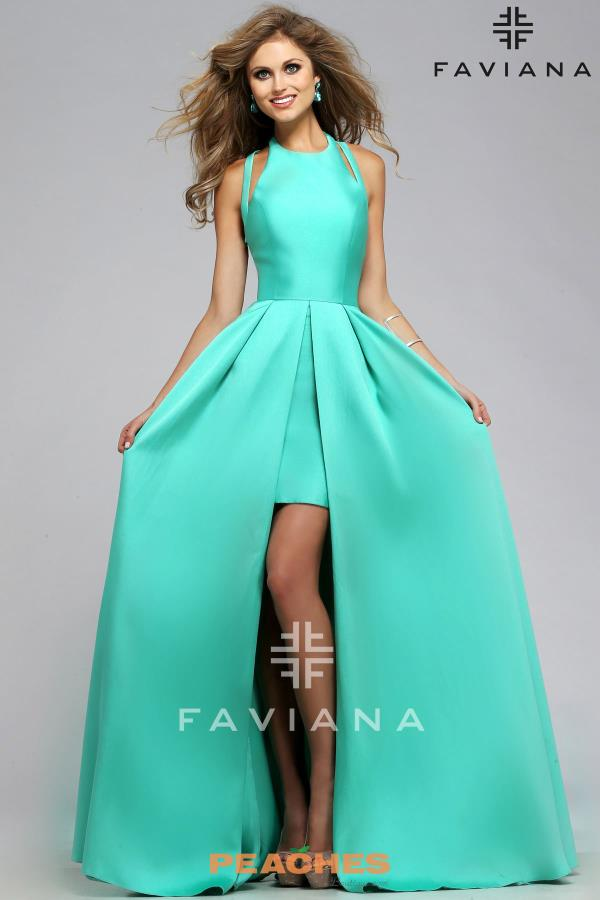 Amazing Celebrity Satin Faviana Dress 7752