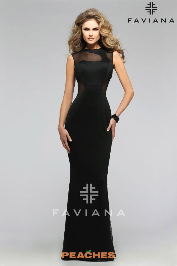 Faviana Long Fitted Dress 7791