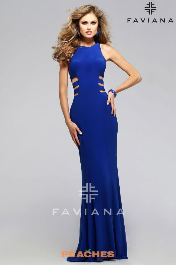 Faviana Fitted Cut Out Dress 7820