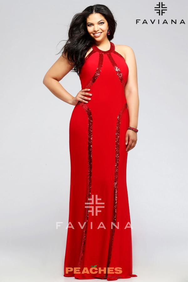 Faviana Jersey Fitted Dress 9390
