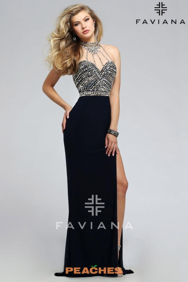 Faviana Long Jersey Dress S7711