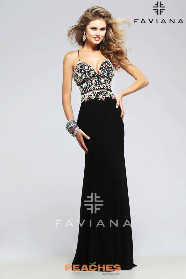 Stunning Jersey Faviana Dress S7718