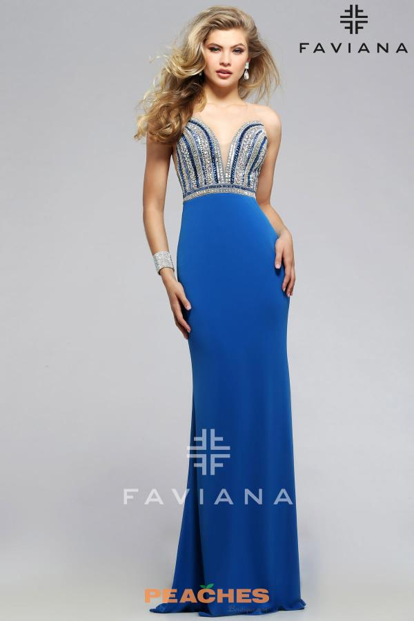 Faviana Sexy Beaded Dress S7807