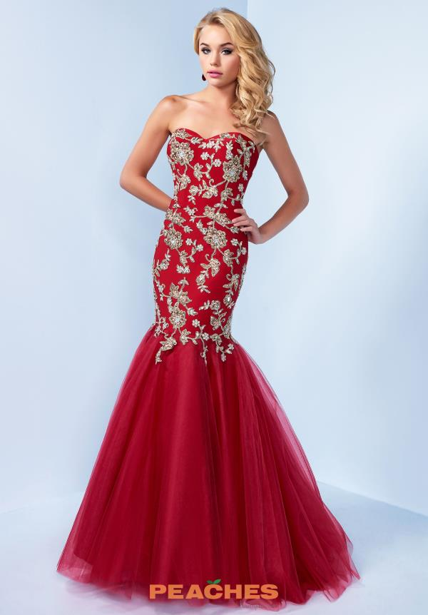 Splash Beaded Mermaid Dress C004