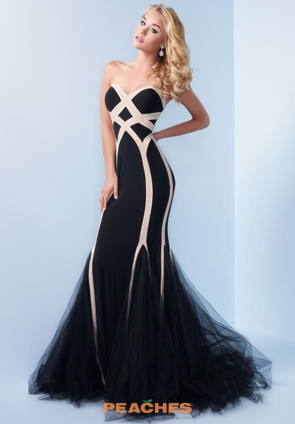 Splash Long Black Prom Dress C016
