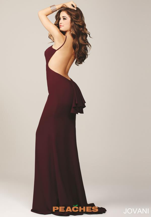 Jovani Sexy Open Back Dress 22696