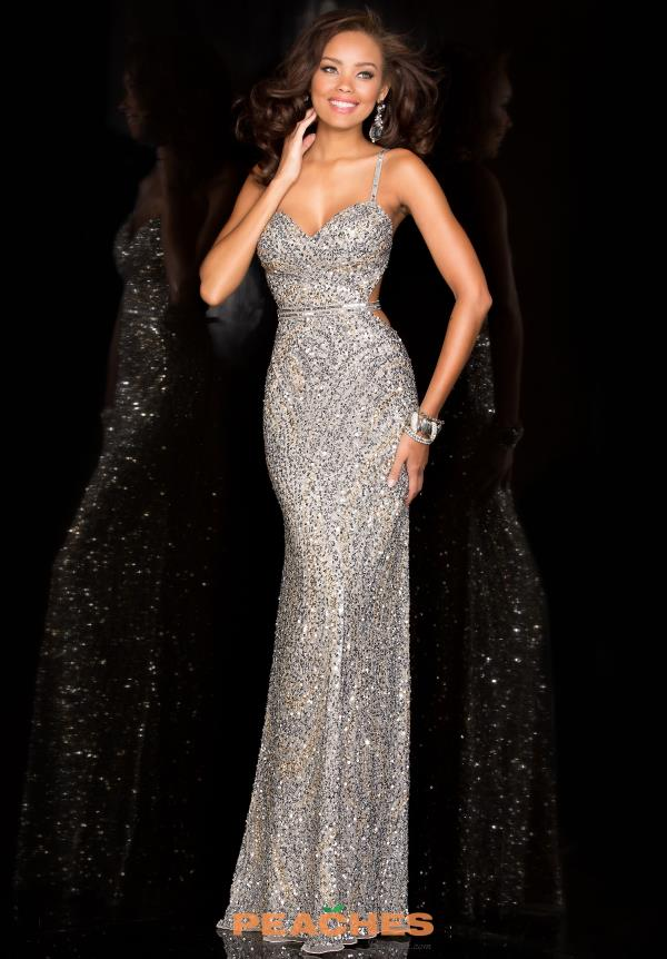 Sexy Silver Long Scala Prom Dress 48474