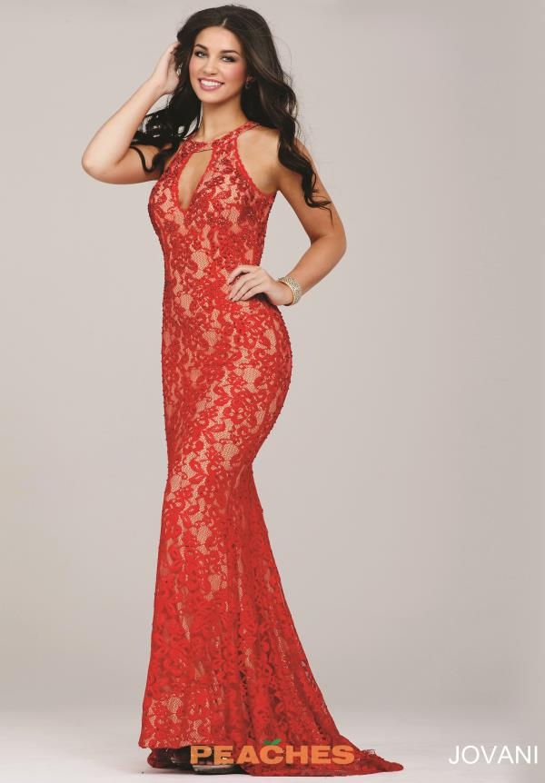 Jovani Lace Fitted Dress 27338