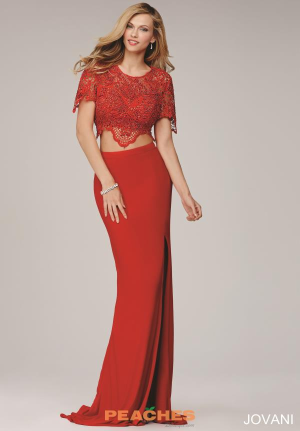 Jovani Two Piece Sleeved Dress 28428