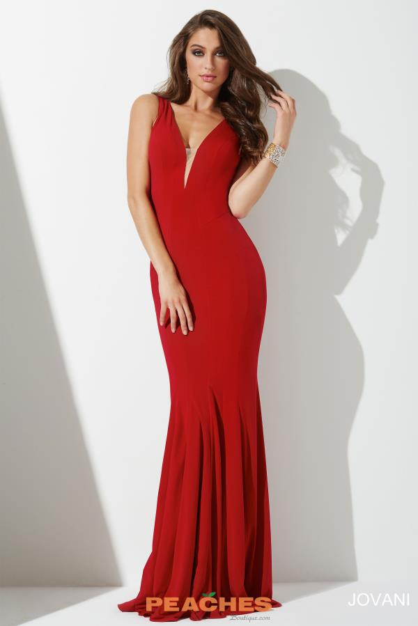 Jovani Fitted Jersey Dress 28548