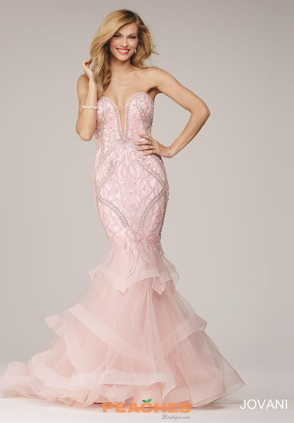 Strapless Mermaid Jovani Dress 31551