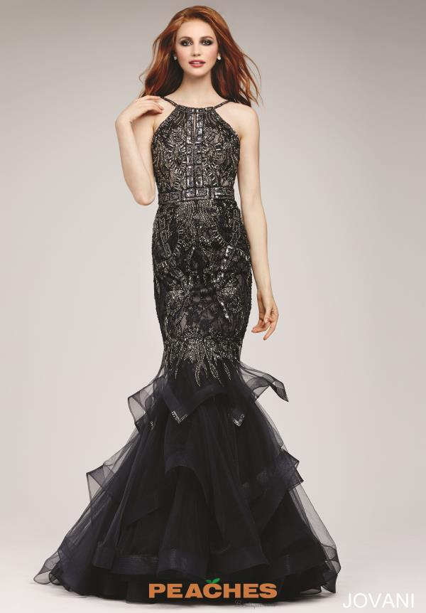 Jovani Beaded Mermaid Dress 31554