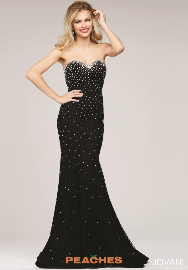 Jovani Strapless Beaded Dress 33132