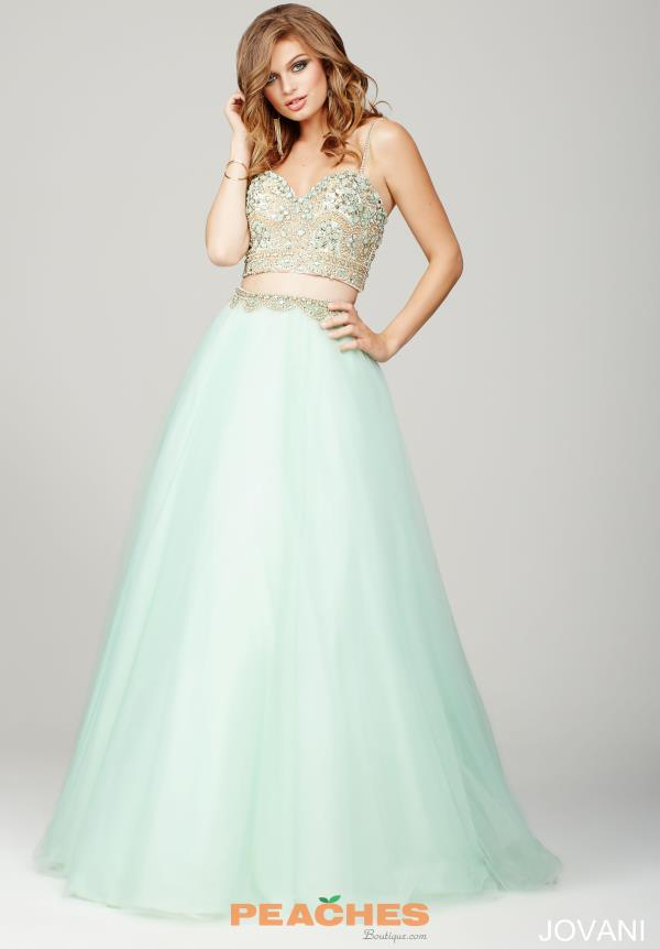 Jovani Tulle A Line Dress 33492