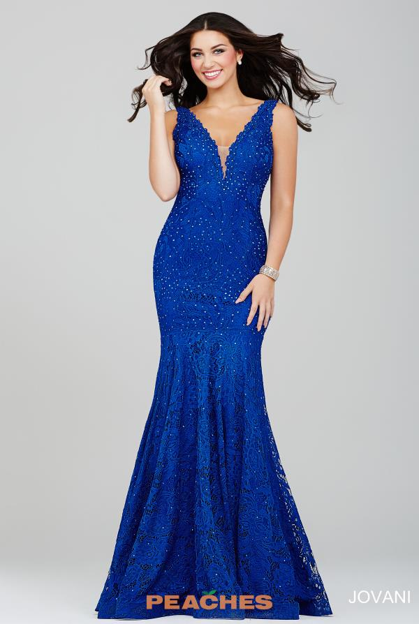 Jovani V- Neckline Beaded Dress 35067