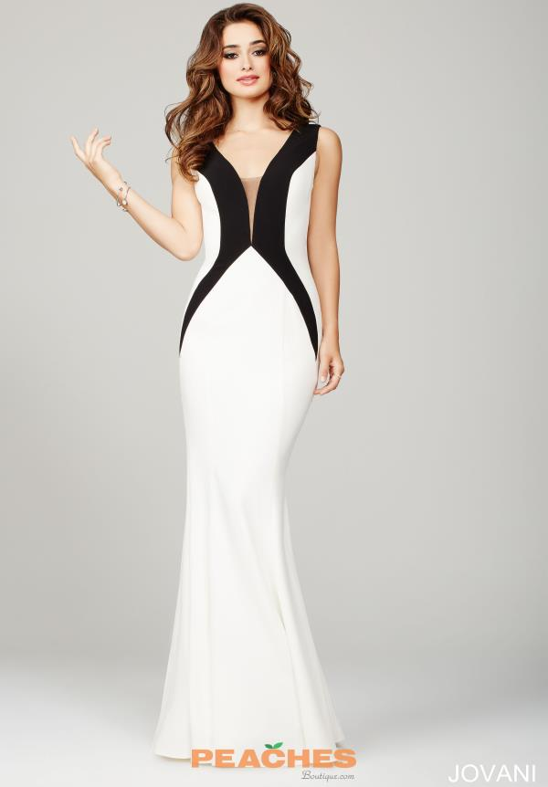 Jovani V- Neckline Jersey Dress 36648