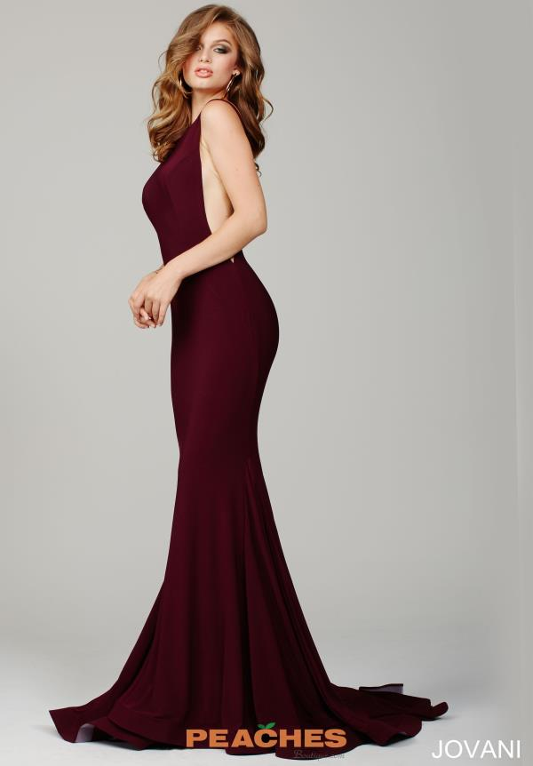 Jovani High Neckline Fitted Dress 37592