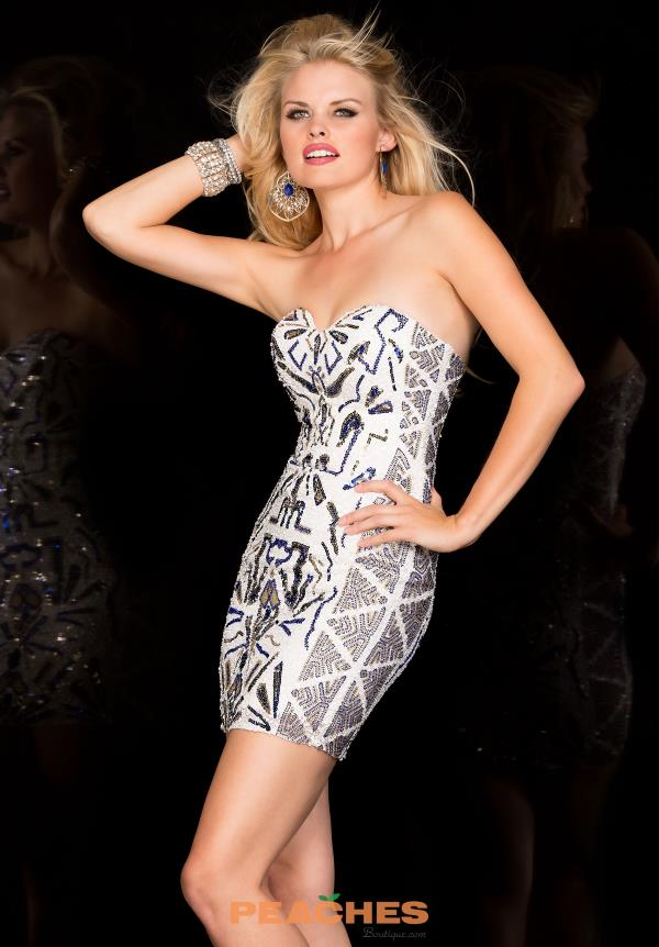 Scala Multi Color Beaded Dress 48574