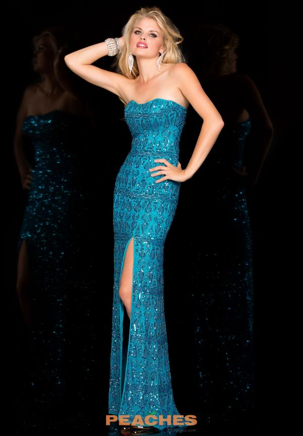 Scala Long Fitted Prom Dress 48589