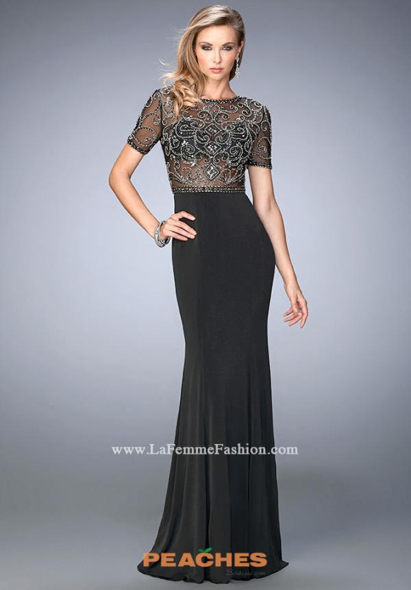 Gigi Sleeved Black Dress 22647