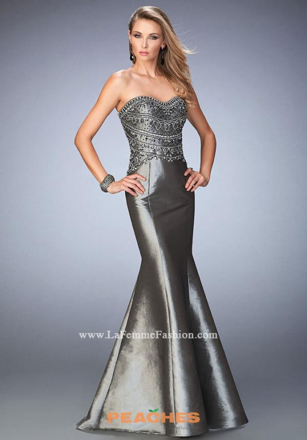 Strapless Taffeta Gigi Prom Dress 22721