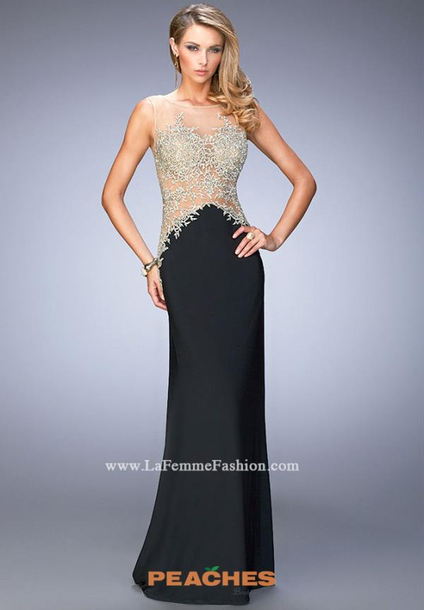 Long Jersey La Femme Dress 21558