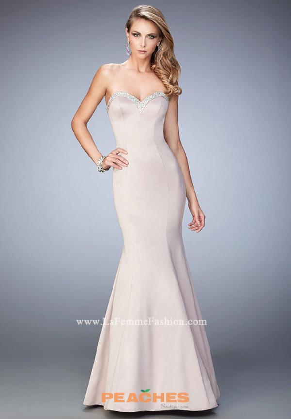 Strapless Fitted La Femme Dress 21591