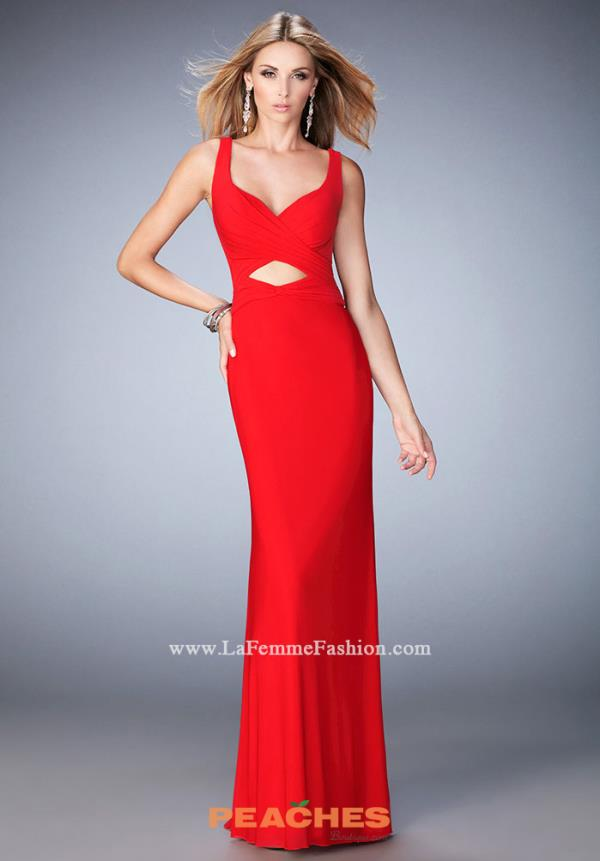 Long Fitted La Femme Dress 22200