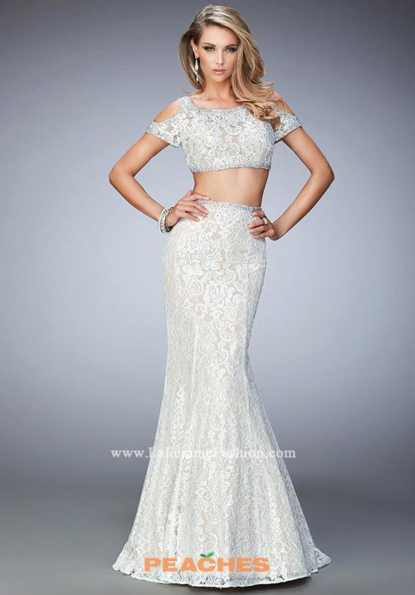 Sleeved Lace La Femme Dress 22339
