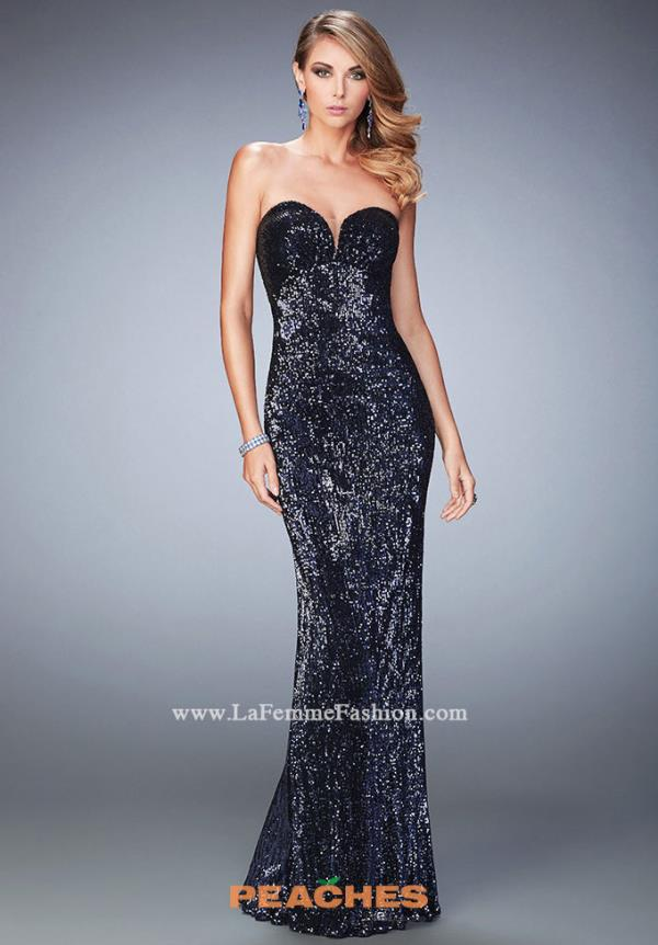 La Femme Fitted Sequins Dress 22500
