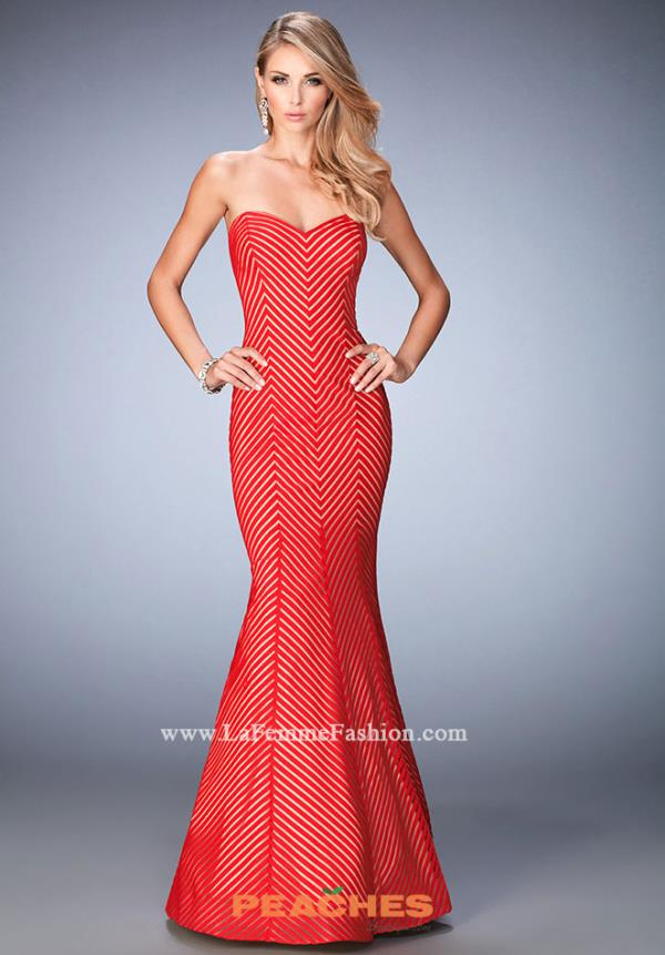 Strapless Mermaid La Femme Dress 22744