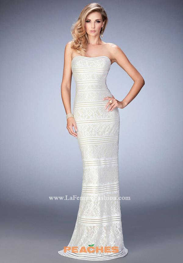 Strapless Beaded La Femme Dress 22841