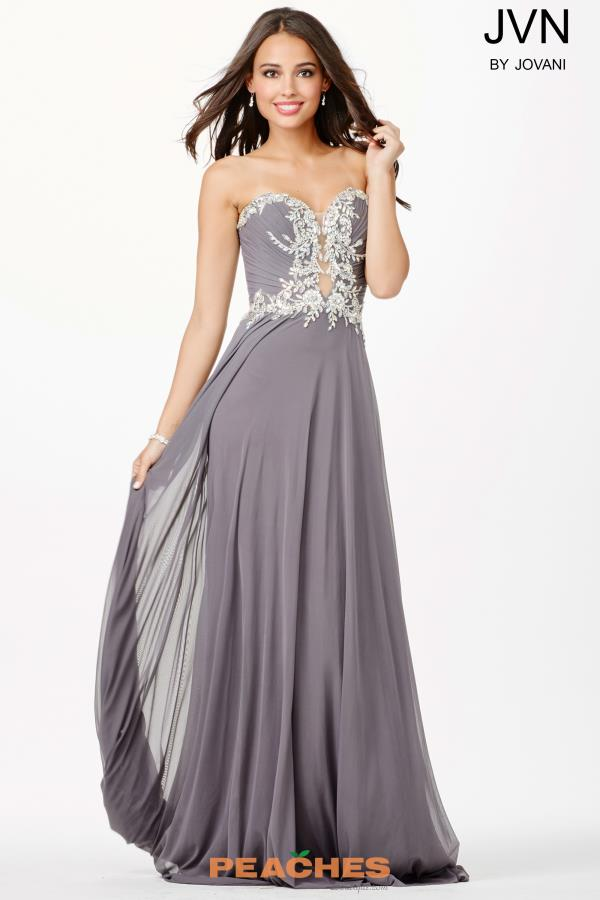 JVN by Jovani Beaded A Line Dress JVN33470